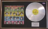 THE ROLLING STONES - LP Platinum disc & cover - SOME GIRLS (with banned cover)